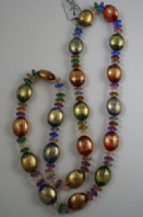 Translucent coloured bead necklace (Code 3185)